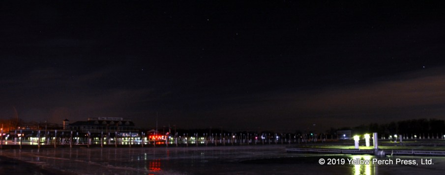 night lights at Put in Bay