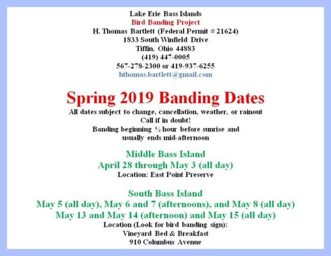 Bird Banding Ohio