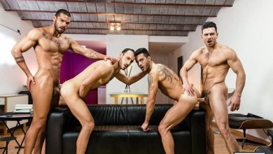 Photo of Hat Trick, Part 3 – Lucas Fox e Paddy O'Brian fodendo Andy Star e Ely Chaim