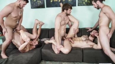 Photo of Orgia Gay – Trevor Long, Colby Keller, Paul Canon, Roman Todd & Jacob Peterson