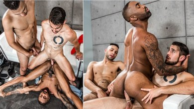 Photo of NoirMale – Model Behavior – Dante Colle fucks Remy Cruze and Tyson Rush