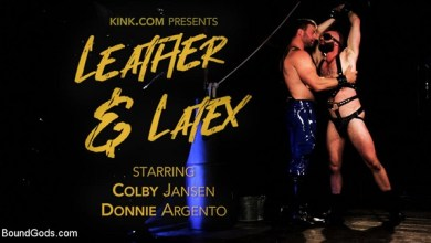 Photo of BoundGods – Leather & Latex: Muscle Stud Colby Jansen Dominates Donnie Argento
