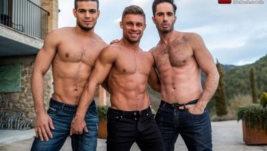 Photo of LucasEntertainment – Klim Gromov Rides Michael Lucas And Rico Marlon