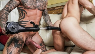 Photo of Dylan James, Max Adonis, And A Fuck Machine