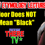 Hebrew Etymology Lecture Moor Doesn't Mean Black