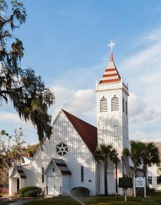 b&w photo of St Marks Church, Palatka FL