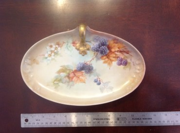 Hand painted candy dish May Heap