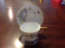 Hand Painted Tea cup & saucer - May Heap