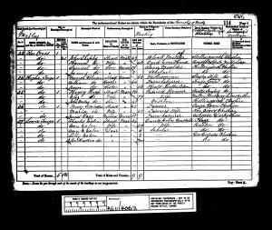 1881 UK Census Matley, Cheshire