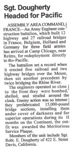 WWII press clipping