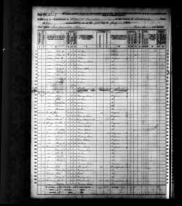 1870 US Census Hopewell Muskingum Ohio