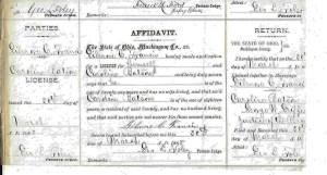 Marriage Affidavit Gilmore C. Francis and Caroline Batson