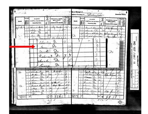 1841 UK Census Dunkenfield Lancashire