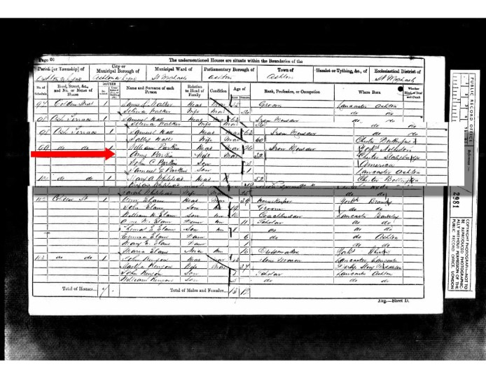1861 UK Census St Michael Ashton under Lyne, Lancashire