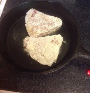 Spanish Steak cooking