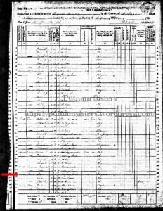 1870 US Census West Zanesville, Ohio