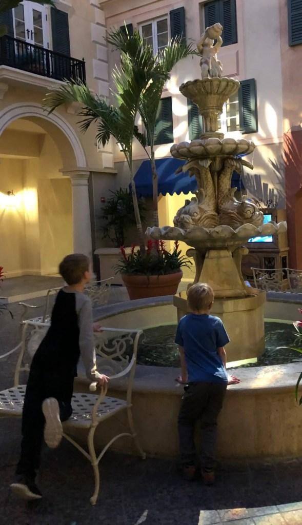 Loews Portofino Bay Hotel Fountain