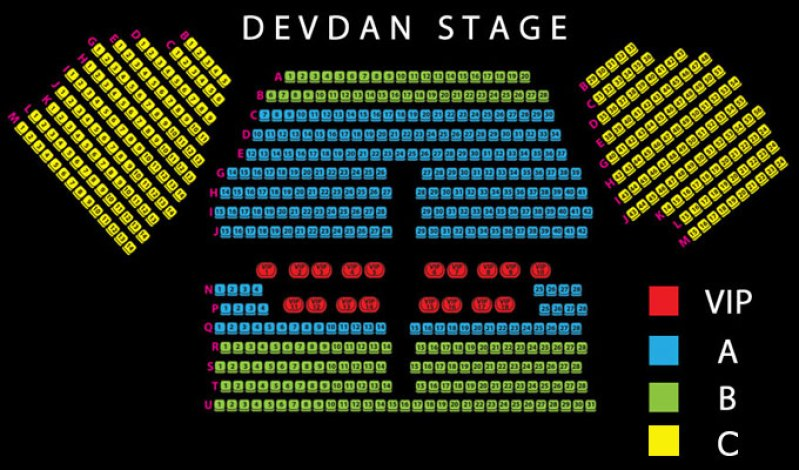 Devdan Show Seating Plan