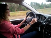 Driving back to Guelph from Capreol...yup that's me wearing glasses to drive...I can finally see where I'm going!