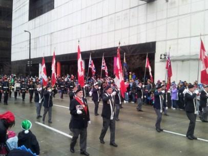 At the Santa Claus Parade