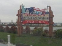 Entering the states for about half an hour!