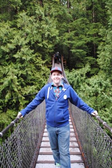 Rob on the Lynn Valley Suspension Bridge