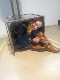Fitting into a tiny box in Science World