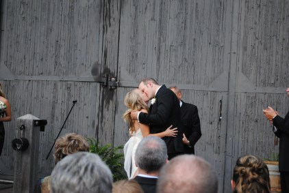 Close up of the kiss
