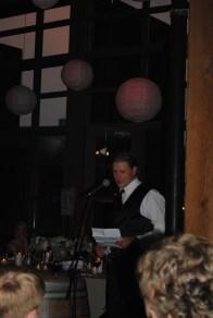 Mason the Best Man giving his speech