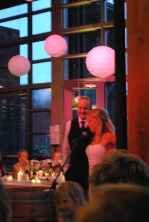 Bride and Groom giving their speeches