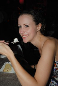 Me in my happy place, eating cake