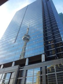 Artsy picture of the CN Tower
