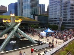 View of the torch from above Cactus Club restaurant