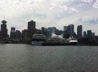 View of Canada Place from the boat
