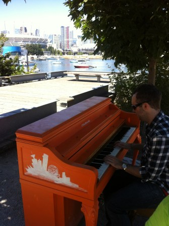 Rob playing some piano