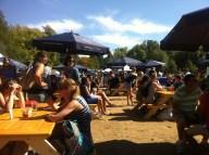 The beer garden!