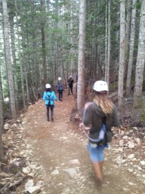Hiking to the first line
