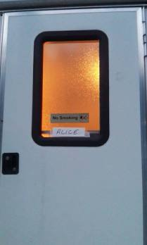 Alice's trailer, I wonder if she was in there!