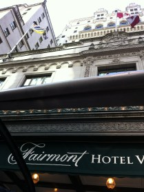 Fairmont Hotel view from the bus
