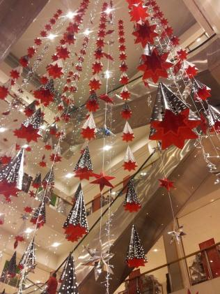 Christmas decorations in John Lewis