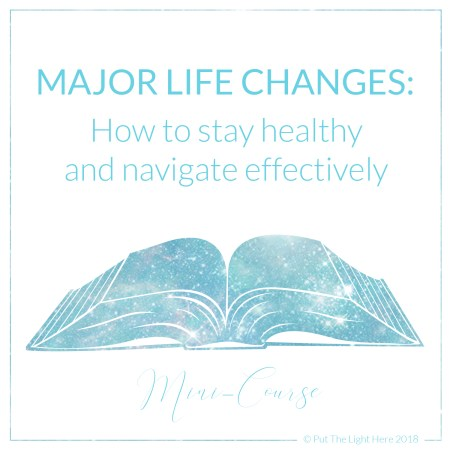 spiritual courses, major life changes, career change, divorce, energy healing
