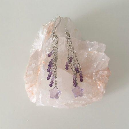 lavender amethyst, lavender amethyst earrings, amethyst earrings, amethyst earrings dangling, ottawa jewelry