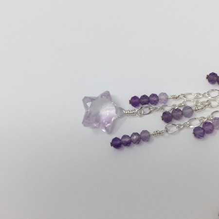 amethyst, shooting star, amethyst earrings, lightworker jewelry