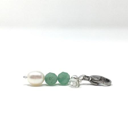 crystal accessories, charm, pet charm, green aventurine