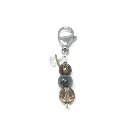 crystal accessories, charm, pet charm, hematite, shungite, protection, emf