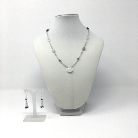 grey moonstone, divine feminine, feminine energy jewelry, moonstone necklace, labradorite jewelry