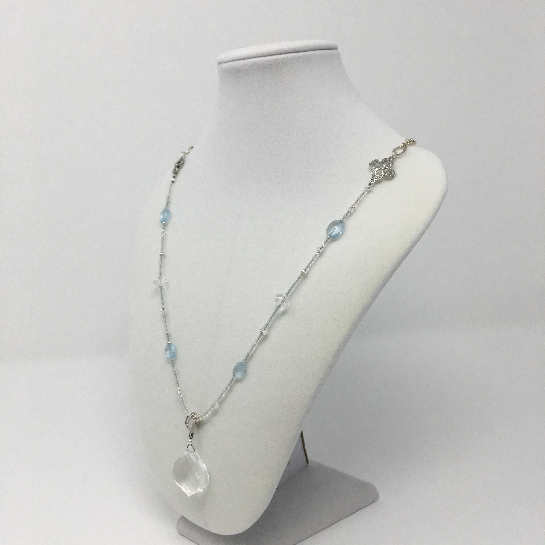 0799311cf25792 goddess necklace, detachable pendant, topaz and quartz, manifest your  dreams, focused intention