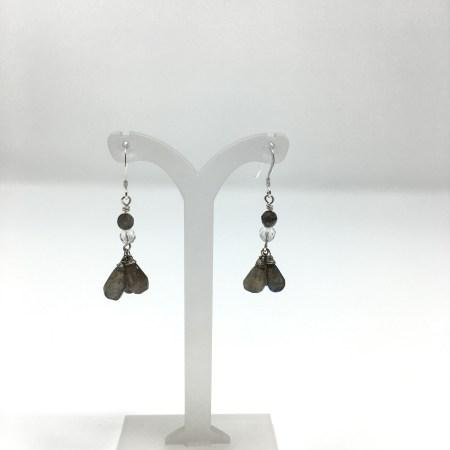 earrings, labradorite, dangling earrings, sterling silver