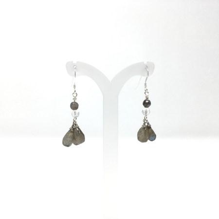 labradorite earrings, labradorite, dangling earrings, labradorite teardrop