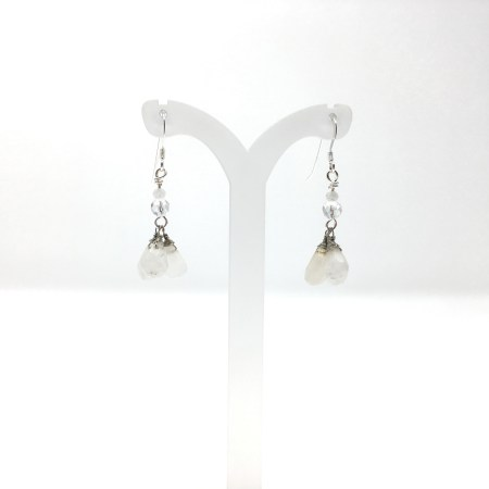 earrings, moonstone, dangling earrings, sterling silver
